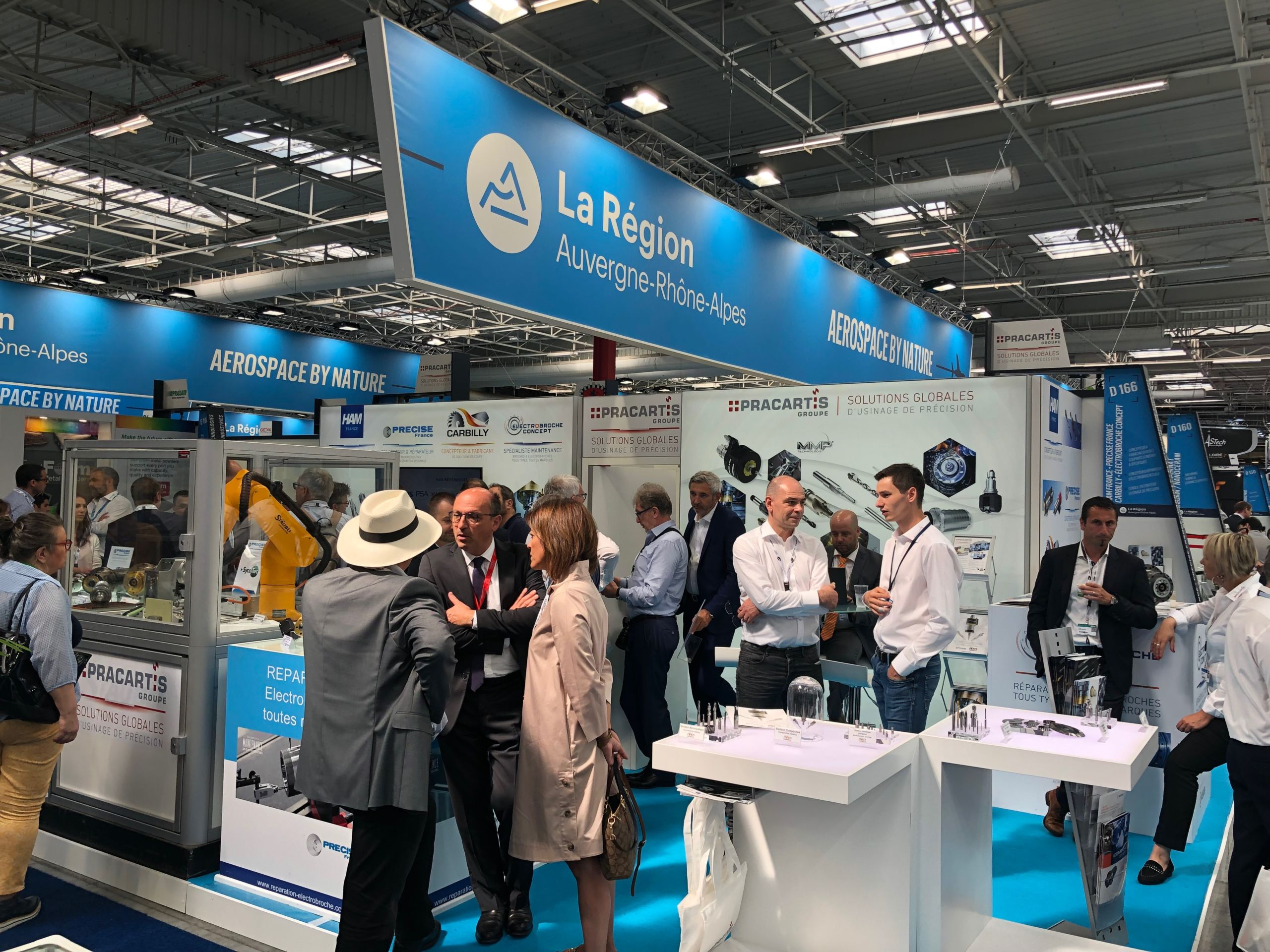 Electrobroche-Concept Bourget 2019 Stand Pracartis